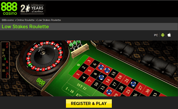 888 Low Stakes Roulette
