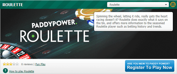 Paddypower Roulette