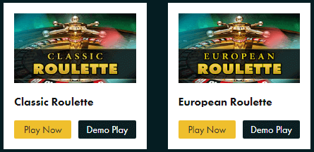 Types of European Roulette