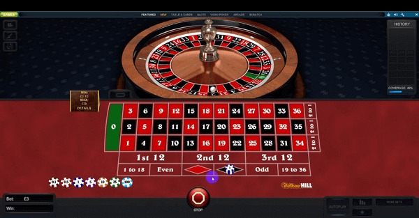 William Hill Roulette Machine: Trigger Numbers